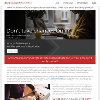 Mcafee.com-Activate - www.Mcafee.com-activate - Enter your email verify