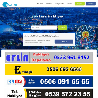 Ankara Evden Eve Nakliyat - - 40`a Varan İndirimli Fiyatlar