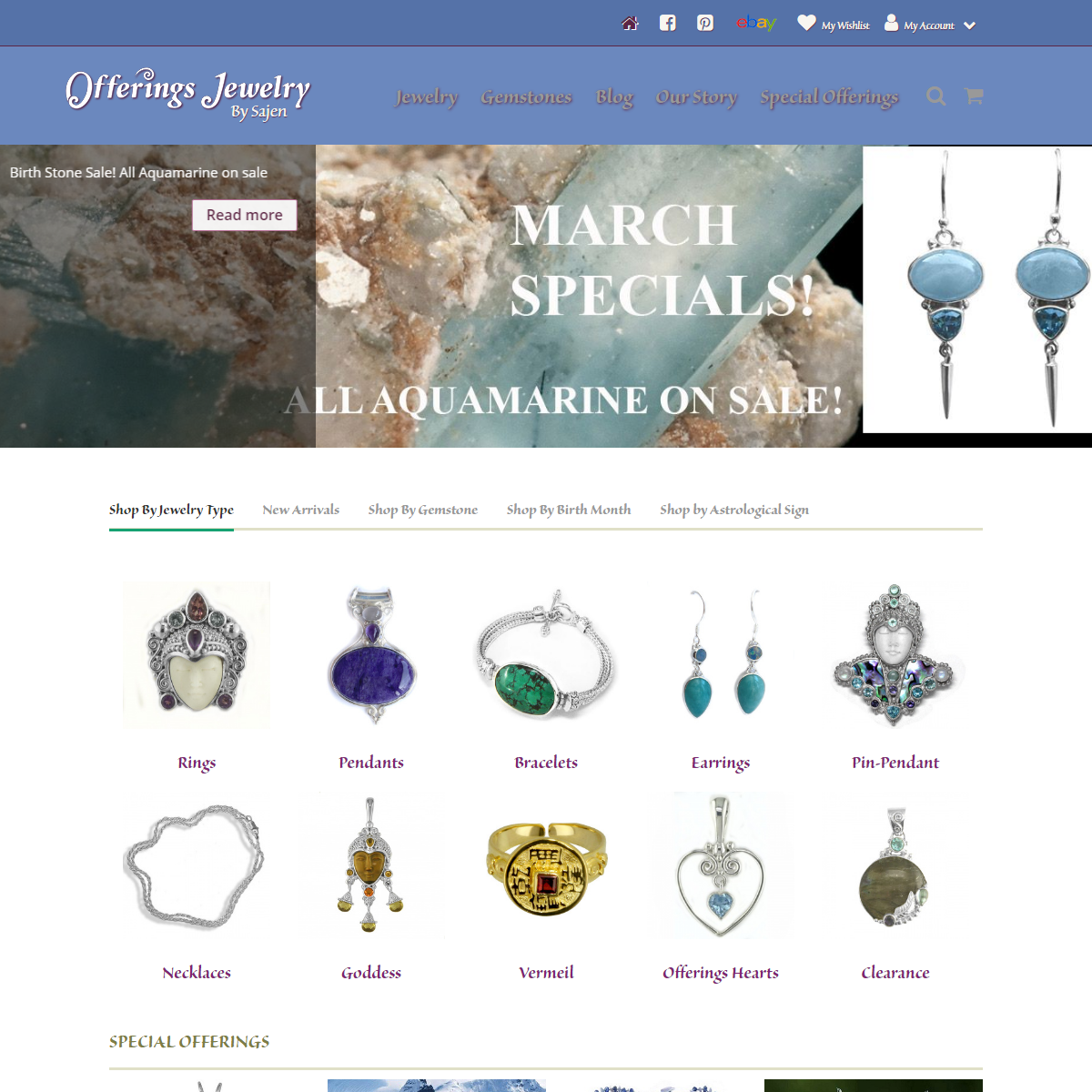 Gemstone Necklaces, Goddess Jewelry, and Unique Rings - Offerings Jewelry by Sajen