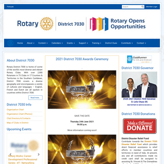 Home Page - District 7030