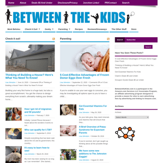 Between The Kids - geeky things from toddlers to teens