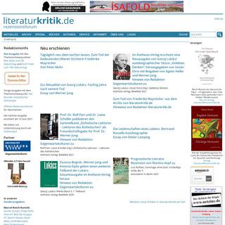 Willkommen bei literaturkritik.de