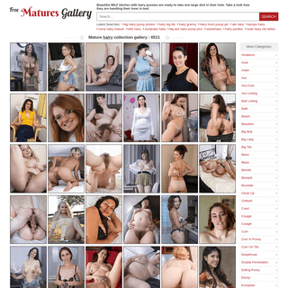 Free hairy mature pictures collection