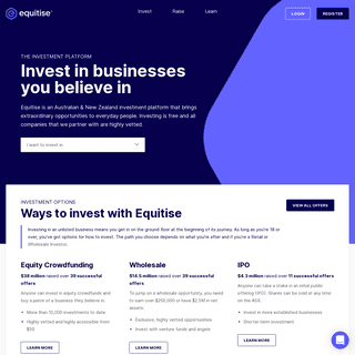 Equitise- Australia`s Leading Equity Crowdfunding Platform