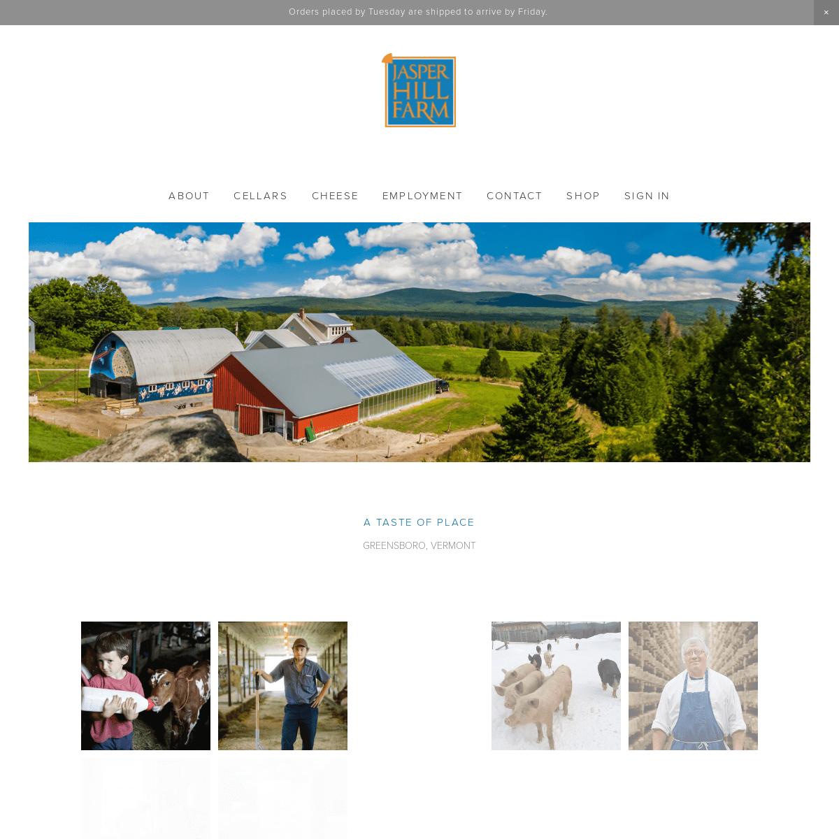 Jasper Hill Farm - A Taste of Place