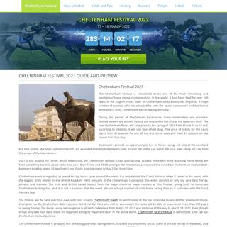 Cheltenham Festival 2021 Preview. Major Horse Racing Event Guide