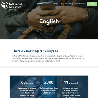 English - ReFrame Ministries