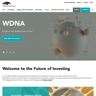 WisdomTree - ETFs (Exchange Traded Funds) & ETF Investments