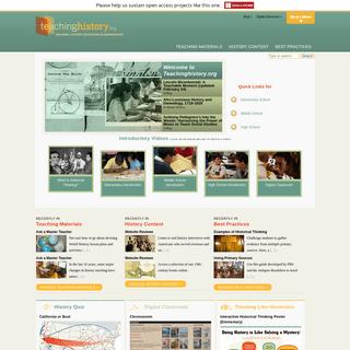 Home - Teachinghistory.org