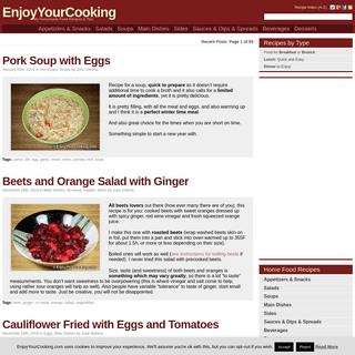 My Homemade Food Recipes & Tips @EnjoyYourCooking