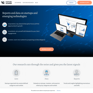 Venture Scanner – Need research on startups-