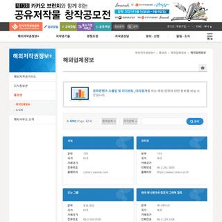 해외업체정보 - 해외업체정보 - 홍보관 - 해외저작권정보+ - 한국저작권위원회 업무포털