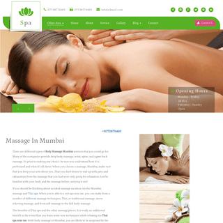 Massage In Mumbai - 07738774469 - Full Body Massage