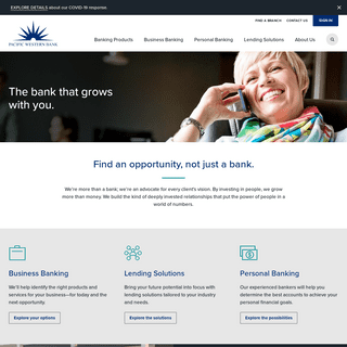Pacific Western Bank - Discover Us