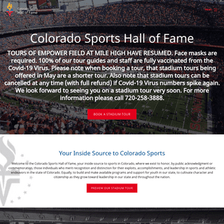 Colorado Sports Hall of Fame - Denver Broncos Stadium at Mile High