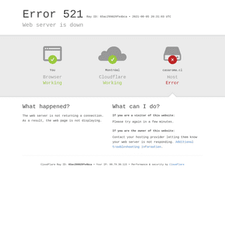 casaroma.cl - 521- Web server is down