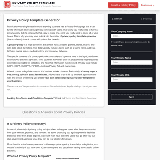 Privacy Policy Template Generator – Easily Create Your Own Privacy Policy