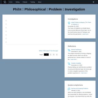 - Philπ ⁝ Philosophical ⁝ Problem ⁝ Investigation