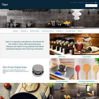 Ozeri - Products for the modern Home, offering Kitchenware, Lifestyle and Health-Living products