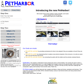 PetHarbor.com- Animal Shelter adopt a pet; dogs, cats, puppies, kittens! Humane Society, SPCA. Lost & Found.
