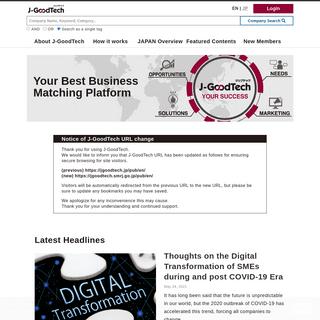 Your best business matching platform - J-GoodTech