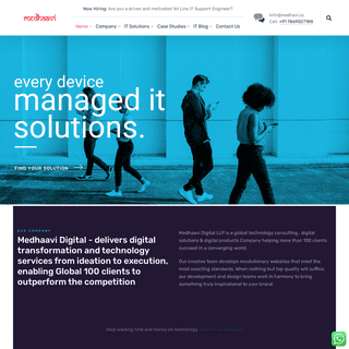Digital Consulting - IT Services - Digital Products - Medhaavi Digital