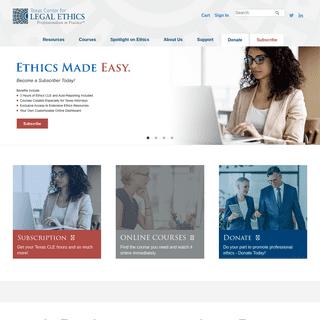 Texas Center for Legal Ethics - Home