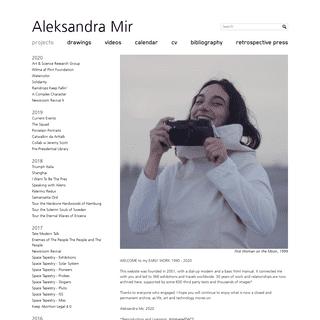 Aleksandra Mir - Projects