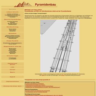 Pyramidenbau mit Seilrollen direkt auf der Pyramideflanke- Methoden von Franz Löhner