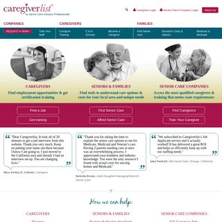 Connecting you with Quality Senior Care Options - CaregiverList.com