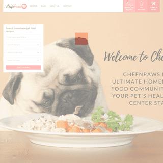 chefnpaws Home - chefnpaws