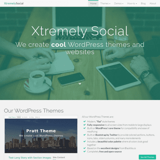 Cool WordPress themes and websites - XtremelySocial