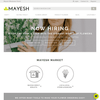 Wholesale Flowers, Foliages, Fillers, Branches and more - Mayesh