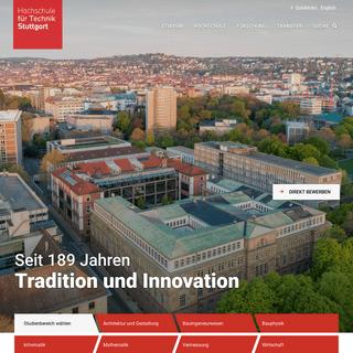 Studieren und Forschen in Stuttgart - HFT Stuttgart