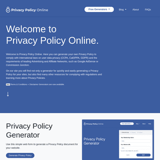 Privacy Policy Online- Privacy Policy, Terms & Conditions, Disclaimer
