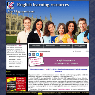 Free online resources for teaching and learning English