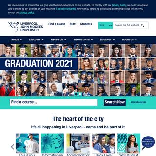 Homepage - Liverpool John Moores University