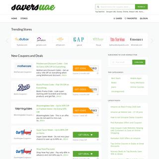 Saversuae.com - Coupon Code website for top brands. Top Coupon website in UAE