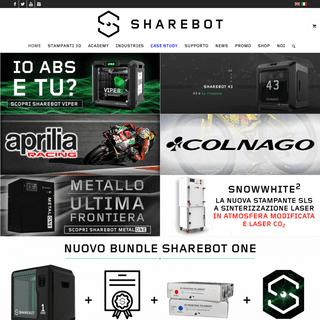 Stampanti 3D Professionali - Sharebot (FDM, DLP, SLA, SLS, DMLS)
