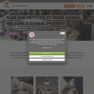 Animal Charity - Animal Welfare Organisation - FOUR PAWS UK