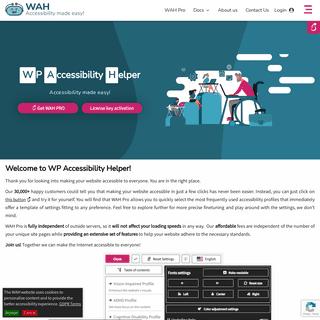 WP Accessibility Helper - Wordpress accessibility plugin