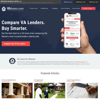 VA Loans- See Guides, Articles and 2021`s Best VA Lenders