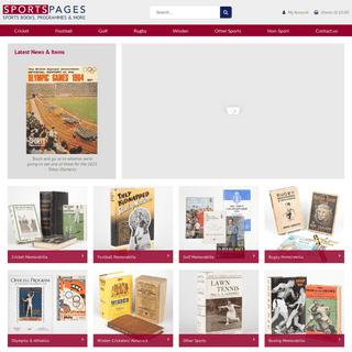 Sports books and sports memorabilia - Sportspages