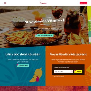 Nando's Canada- Flame Grilled PERi-PERi Chicken - Nando`s Canada