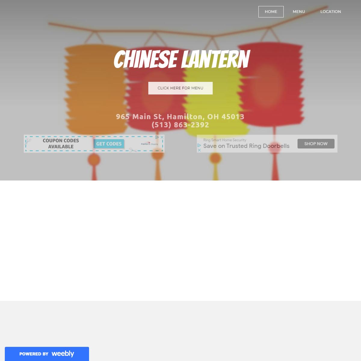 Chinese Lantern - Home