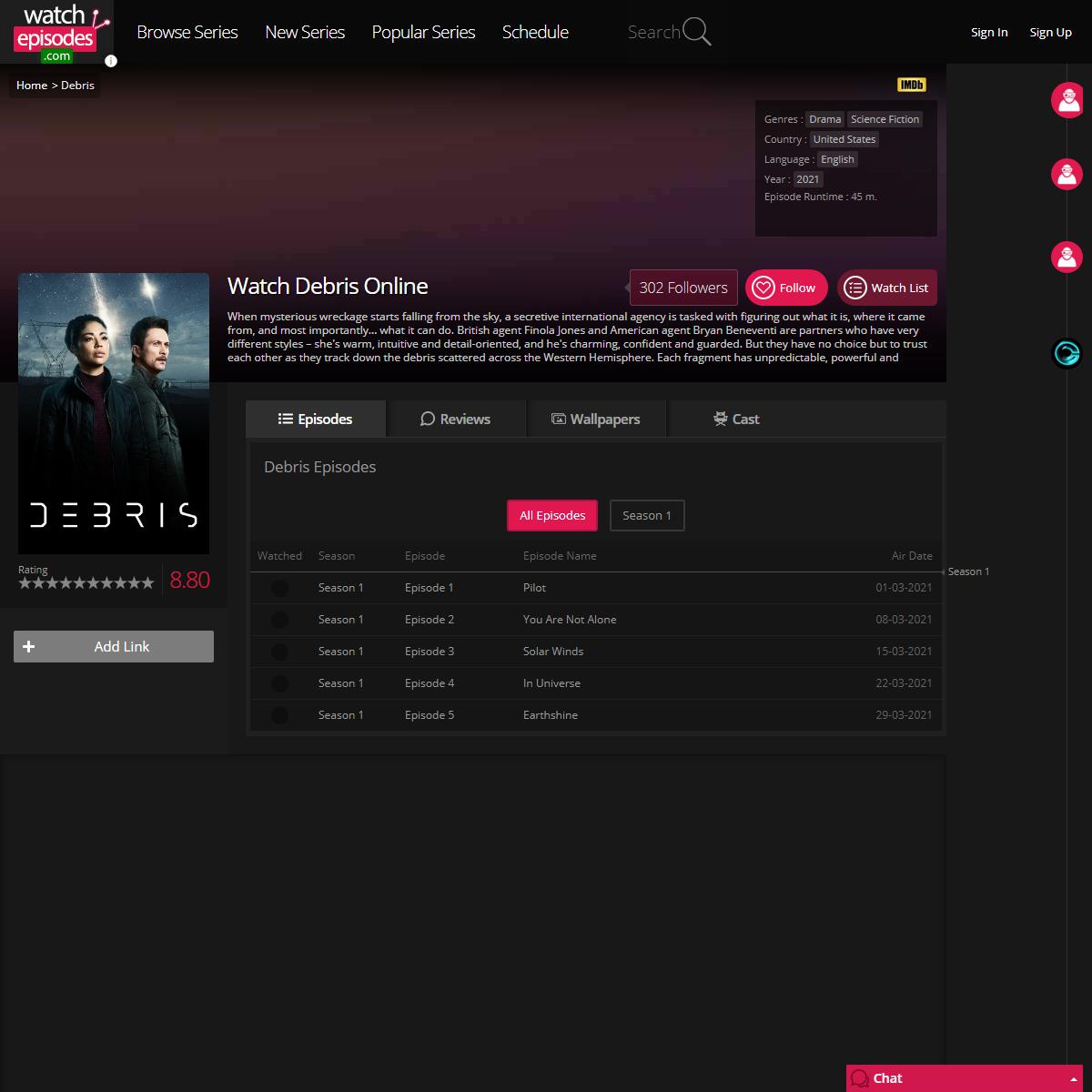 Watch Debris Online Free. Debris Episodes at watchepisodes4.com