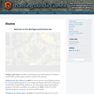Battlegrounds Games - Virtual tabletop software for gaming online (or offline)