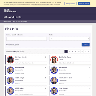 Find MPs - MPs and Lords - UK Parliament