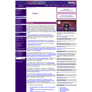 Muthén & Muthén, Mplus Home Page