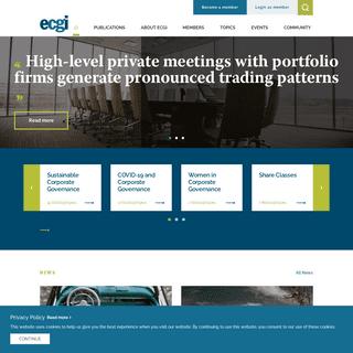 ECGI - European Corporate Governance Institute
